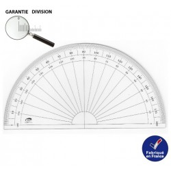 Rapporteur 10 cm demi-circulaire 180 Degres RTS www.rts-boutique.fr