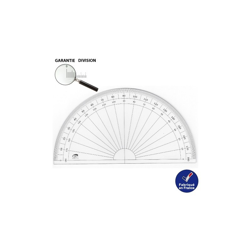 Rapporteur 13 cm demi-circulaire RTS