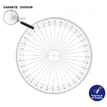 Rapporteur circulaire 10 cm 360 degrés RTS
