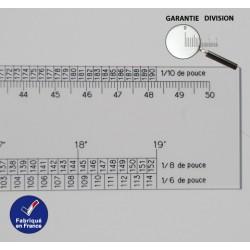 Régle Cm et Pouce 1/6 1/8 1/10 Ep 4mm