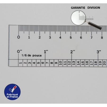 Régle Cm et Pouce 1/6 Ep 1 mm