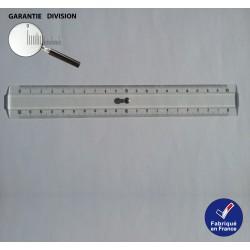 Règle 20 cm, Double décimètre en Plexi