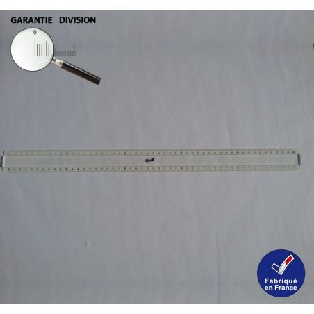 Règle 50 cm, Quintuple décimètre en Plexi Double biseau Blanc