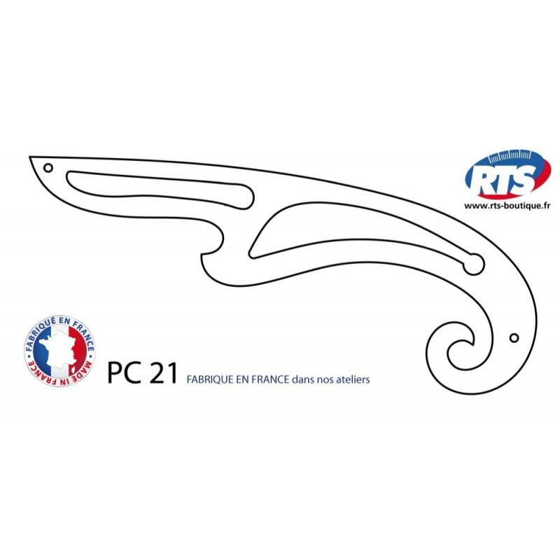 Pistolet à courbes PC 21 curvigraphe perroquet couture