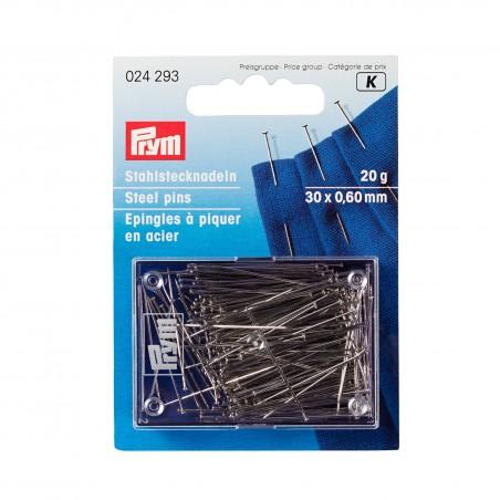 Epingle à piquer en acier 0,60 x 30mm,  20g Prym 024293